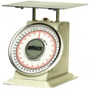 "Rubbermaid FG10B100 Pelouze Heavy-Duty Receiving Digital Scale Dual Read 100lb x 4 oz 13"" x 13"""