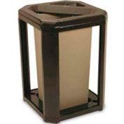 Landmark Series® 20 Gal. Classic Container W/ Ash Trash Frame - Driftwood