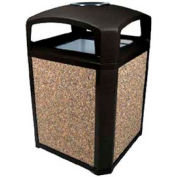 Landmark Series® 35 Gal. Classic Container W/ Dome Top And Ashtray - Black