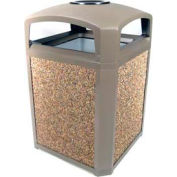 Landmark Series® 35 Gal. Classic Container W/ Dome Top And Ashtray - Driftwood