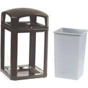 Landmark Series® 35 Gal. Locking Classic Container W/ Dome Top - Black