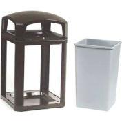 Landmark Series® 35 Gal. Locking Classic Container W/ Dome Top - Black