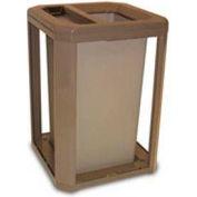 Landmark Series® 35 Gal. Classic Container W/ Ash Trash Top - Driftwood