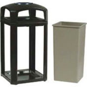 Landmark Series® 50 Gal. Classic Container W/ Dome Top And Ashtray - Driftwood