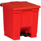 Rubbermaid® Fire Safe Step On Plastic Container, 8 Gallon, Red - FG614300RED