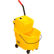 Rubbermaid WaveBrake® 2.0 Mop Bucket & Wringer Combo W/ Side Press, 26 Qt. - FG748000YEL