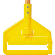 "Rubbermaid® 60"" Invader Side Gate Wood Mop Handle, Yellow - FGH116000000 - Pkg Qty 12"
