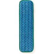 "Rubbermaid® 18"" Microfiber Damp Room Mop - Green - FGQ41800GR00 - Pkg Qty 12"