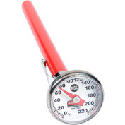 Pelouze® FGTHP220C - Pocket Thermometer, Stainless Steel, Easy To Recalibrate, 0 To 220°F