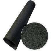 "Rubber-Cal ""Elephant Bark"" Rubber Flooring Rolls, 1/4""THK x 4'W x 2.5'L, All Black"