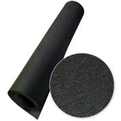 "Rubber-Cal Elephant Bark Rubber Flooring Rolls 1/4"" Thick 4' x 3.5' Black"