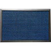 """Rubber-Cal Nottingham Entrance Mat 3/8"""" Thick 2' x 3' Blue"""