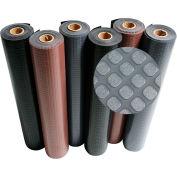 """Rubber-Cal """"Block-Grip"""" Rubber Runner Mat, 2mm THK x 4'W x 8'L, Black"""
