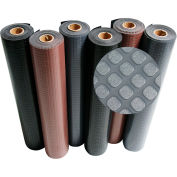 """Rubber-Cal """"Block-Grip"""" Rubber Runner Mat, 2mm THK x 4'W x 25'L, Brown"""