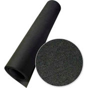"Rubber-Cal Elephant Bark Rubber Flooring Rolls 1/4"" Thick 4' x 8' Black"