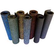 "Rubber-Cal ""Elephant Bark"" Rubber Flooring Rolls, 3/8""THK x 4'W x 6'L , All Black"