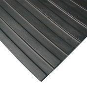 "Rubber-Cal ""Wide Rib"" Corrugated Rubber Runners, 1/8""THK x 3'W x 15'L, Black"