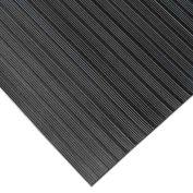 """Rubber-Cal """"Composite Rib"""" Corrugated Rubber Runners, 1/8""""THK x 4'W x 4'L, Black"""
