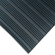 "Rubber-Cal ""Composite Rib"" Corrugated Rubber Runners, 1/8""THK x 4'W x 15'L, Black"
