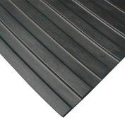 "Rubber-Cal ""Wide Rib"" Corrugated Rubber Runners, 1/8""THK x 4'W x 6'L, Black"