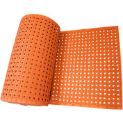 """Rubber-Cal Paw Grip Non-Slip Rubber Matting 3/8"""" Thick 3' x 7' Red"""