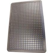 """Rubber-Cal """"Bubble-Top"""" Anti Fatigue Floor Mat, 5/8""""THK x 2'W x 3'L, Black"""