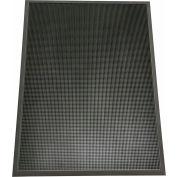 "Rubber-Cal Door Scraper Anti-Slip Entrance Mat 5/8"" Thick 32 x 39 Black"