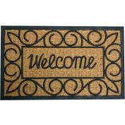 """Rubber-Cal Welcome Coir Door Mat 5/8"""" Thick 1.5' x 2.5'"""