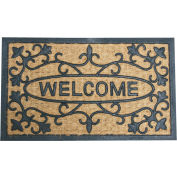 """Rubber-Cal Welcome To Our House Coir Door Mat 5/8"""" Thick 1.5' x 2.5'"""