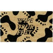 """Rubber-Cal Wipe Your Feet Coir Door Mat 5/8"""" Thick 1.5' x 2.5'"""