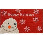 "Rubber-Cal Happy Holidays Coir Door Mat 5/8"" Thick 1.5' x 2.5'"
