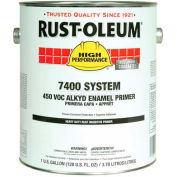 Rust-Oleum V7400 Series <340 VOC Alkyd Enamel Primer, Hd Rust Inhibitive Gray Gallon Can - 1060402 - Pkg Qty 2