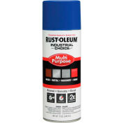 Rust-Oleum Industrial Choice 1600 System Gen Purpose Enamel Aerosol, Safety Blue 16 oz. Can- 1624830 - Pkg Qty 6