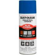 Rust-Oleum Industrial 1600 System General Purpose Enamel Aerosol, True Blue, 12 oz. - 1626830 - Pkg Qty 6