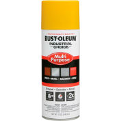Rust-Oleum Industrial 1600 System Gen Purpose Enamel Aerosol, Safety Yellow, 12 oz. - 1644830 - Pkg Qty 6