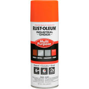 Rust-Oleum Industrial 1600 System General Purpose Enamel Aerosol, Safety Orange, 12 oz. - 1653830 - Pkg Qty 6