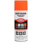 Rust-Oleum Industrial 1600 System Gen Purpose Enamel Aerosol, Fluorescent Orange 16 oz. Can- 1654830 - Pkg Qty 6