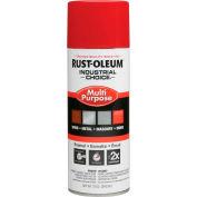 Rust-Oleum Industrial 1600 System General Purpose Enamel Aerosol, Safety Red 16 oz. Can - 1660830 - Pkg Qty 6