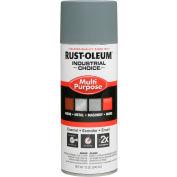 Rust-Oleum Industrial Choice 1600 System Gen Purpose Enamel Aerosol, Gray Primer, 12 oz.- 1680830 - Pkg Qty 6