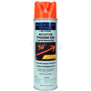 Rust-Oleum M1800 Water-Based Precision-Line Inverted Marking Paint Aerosol, Fluor. Red - Pkg Qty 12