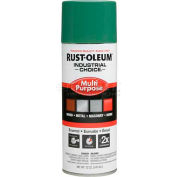 Rust-Oleum Industrial 1600 System General Purpose Enamel Aerosol, Machine Green, 12 oz. - 202211 - Pkg Qty 6