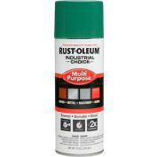 Rust-Oleum Industrial 1600 System General Purpose Enamel Aerosol, Machine Green, 12 oz. - 202211 - Pkg Qty 6