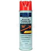 Rust-Oleum M1800 Water-Based Precision-Line Inverted Marking Paint Aerosol, Safety Red - Pkg Qty 12