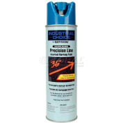 Rust-Oleum M1800 Water-Based Precision-Line Inverted Marking Paint Aerosol, Fluor. Blue - Pkg Qty 12