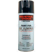 Rust-Oleum P1600 System Paint For Plastic Aerosol, Black 16 oz. Can - 223838 - Pkg Qty 6