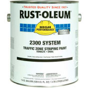 Rust-Oleum 2300 System <100 VOC Traffic Zone Striping Paint, White, 5 Gal.