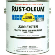 Rust-Oleum 2300 System <100 Voc Traffic Zone Striping Paint, White, 1 Gallon - Pkg Qty 2