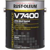 Rust-Oleum V7400 Series <340 VOC DTM Alkyd Enamel, High Gloss Black Gallon Can - 245403 - Pkg Qty 2