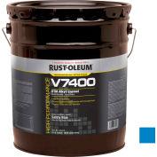 Rust-Oleum V7400 Series <340 VOC DTM Alkyd Enamel, Safety Blue 5 Gallon Pail - 245475