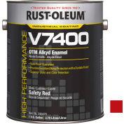 Rust-Oleum V7400 Series <340 VOC DTM Alkyd Enamel, Safety Red Gallon Can - 245487 - Pkg Qty 2